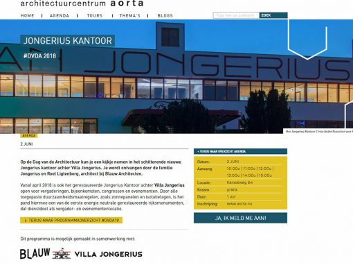 Header website  'Dag van de Architectuur 2018', Architectuurcentrum Aorta.