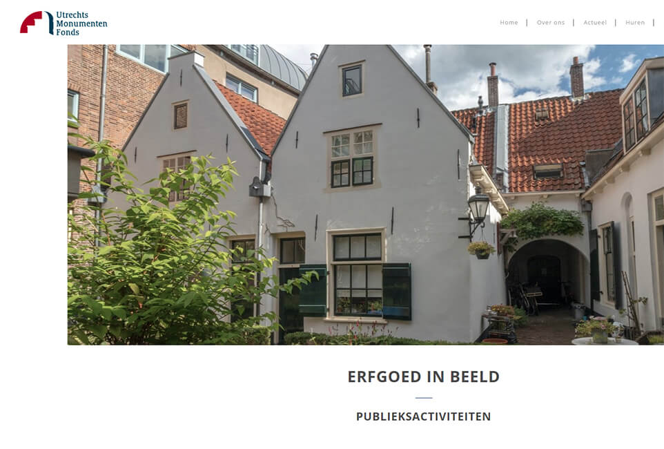 Website Utrechts Monumentenfonds